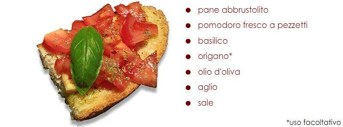 Bruschetta: La bruschetta al pomodoro, la più classica bruschetta.