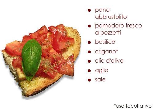 Bruschetta: Gli ingredienti della bruschetta.