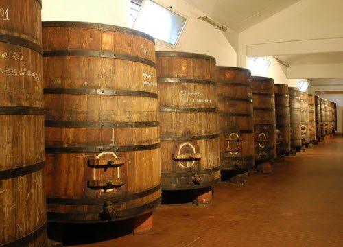 Maraschino liqueur: Luxardo factory, Torreglia, Maraschino barrels (crt-01)