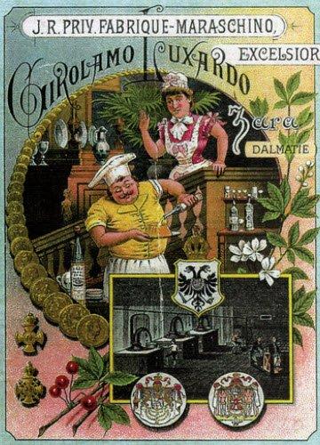 Maraschino liqueur: Luxardo's advertising poster (1) (crt-01)