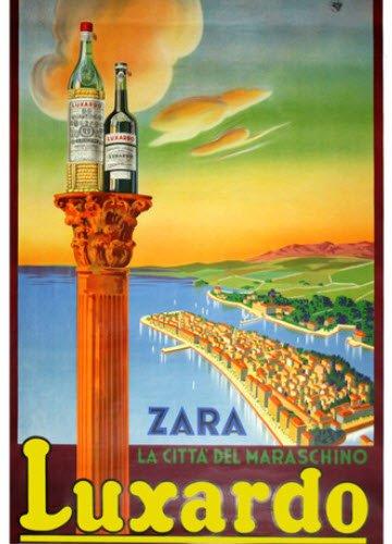 Maraschino liqueur: Luxardo's advertising poster (4) (crt-01)