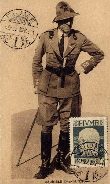 Maraschino liqueur: Postcard showing Gabriele D'Annunzio, 1921 (img-20)