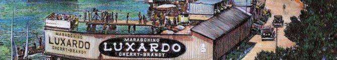 Maraschino liqueur: Maraschino Luxardo, advertising banner (crt-01)