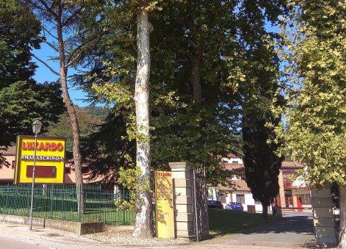 Maraschino liqueur: Luxardo factory, Torreglia, entrance.