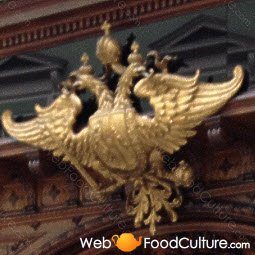 Sachertorte: Austrian two-headed eagle.