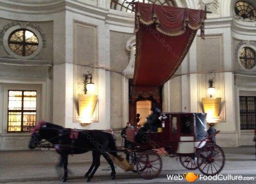 Torta Sacher: Hofburg, dettaglio ingresso.