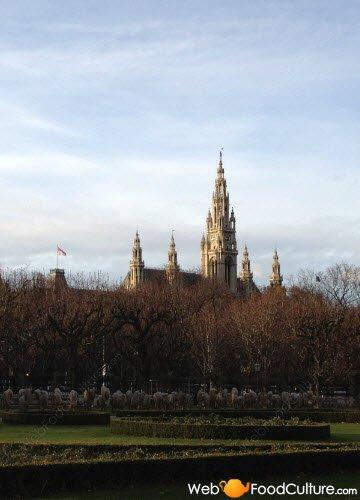Torta Sacher: Vienna, Rathaus.