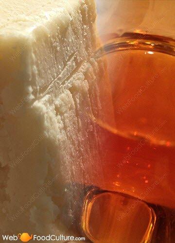 Marsala wine: Marsala Vergine and Parmigiano Reggiano.