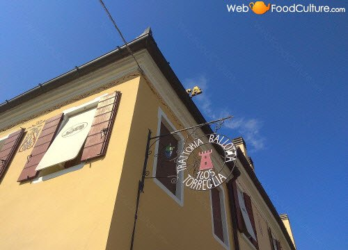 Ballotta, Galileo's Trattoria: sign.