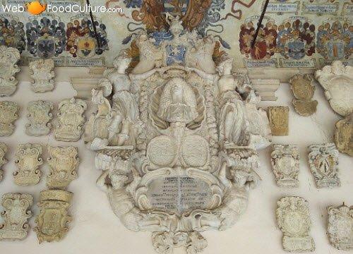 Ballotta, Galileo's Trattoria: Padua, 'Palazzo del Bo', interior detail.