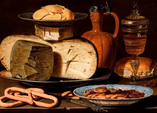 Renaissance banquets by Vatel: Still Life with Cheeses, Almonds and Pretzels (img-05)