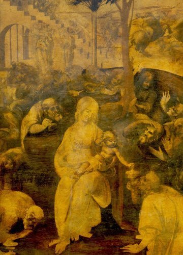 Leonardo da Vinci and wine: Leonardo, 'Adoration of the Magi' (img-06)