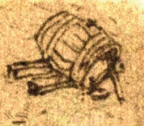 Leonardo da Vinci and wine: Leonardo, small barrel (crt-01)