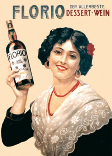 Marsala wine: Marsala Florio advertising poster (crt-01)