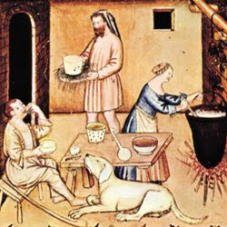 Preparation of cheese, XIV Century (img-02)