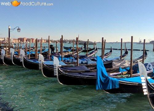 Venetian gondolas.