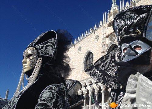 Masks of the Venetian Carnival.