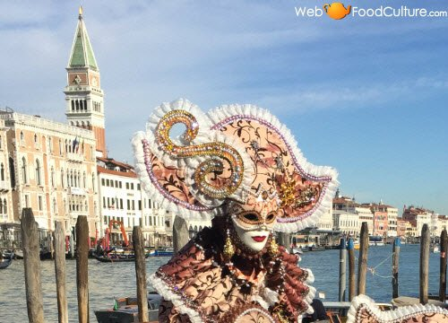 Venetian Galani: Masks of the Venetian Carnival.