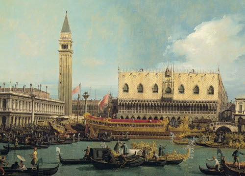 Canaletto - The Bucentaur on the mole on Ascension day (img-01)