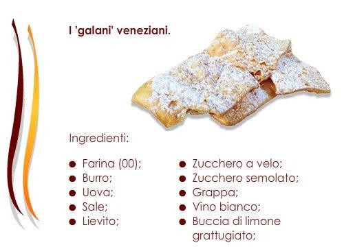 Gli ingredienti dei Galani veneziani.