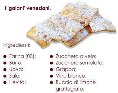Galani: Gli ingredienti dei Galani veneziani.