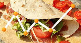Piadina Romagnola: calories and nutritional values.