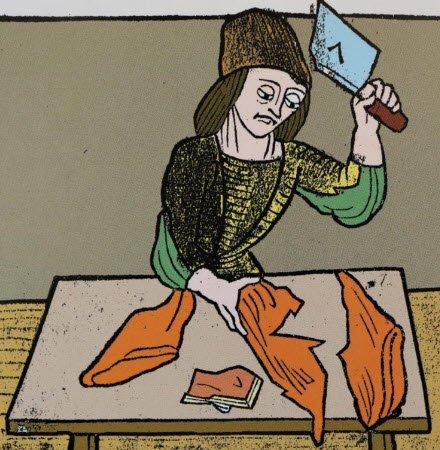 Cotechino: Macellaio di epoca medioevale (crt-02)