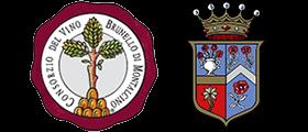 Logo del Consorzio del Vino Brunello di Montalcino e della Biondi-Santi (crt-01; crt-02)